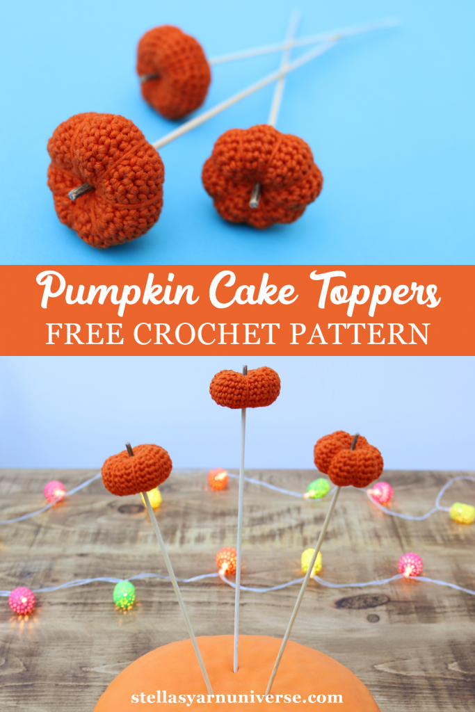 Pumpkin Cake Toppers Free Crochet Patterns