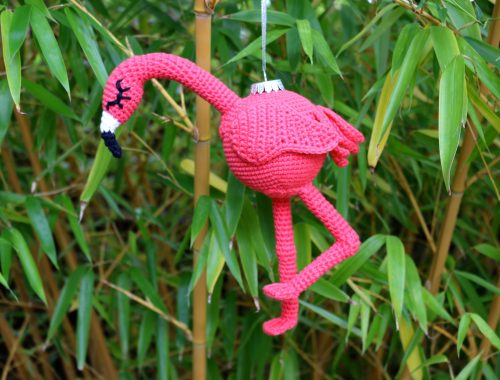 Flamingo Ornament Free Crochet Pattern