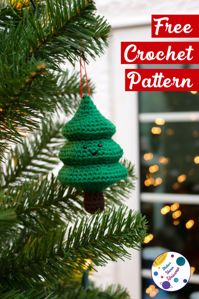 Fir Tree Ornament Free Crochet Pattern