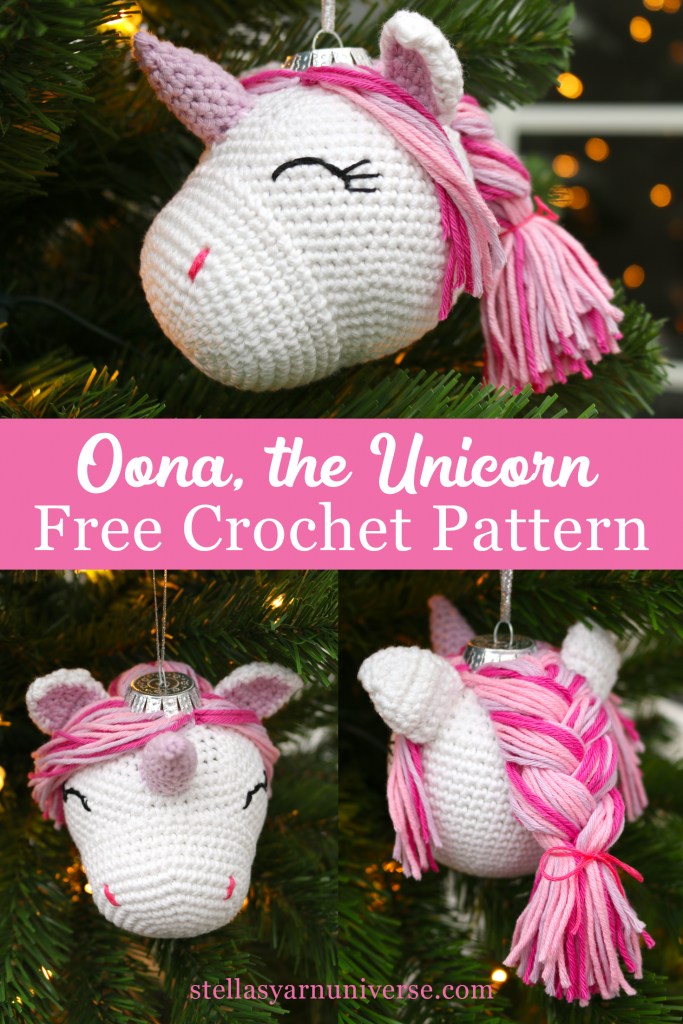 Unicorn Ornament | Free Crochet Pattern | Stella's Yarn Universe