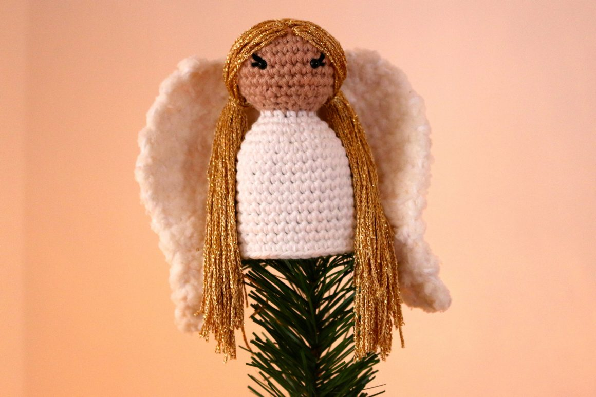 Angel Tree Topper Free Crochet Pattern