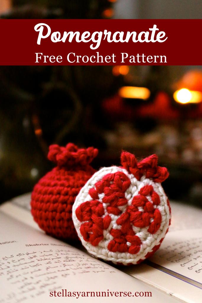 Pomegranate Free Crochet Pattern | stellasyarnuniverse.com