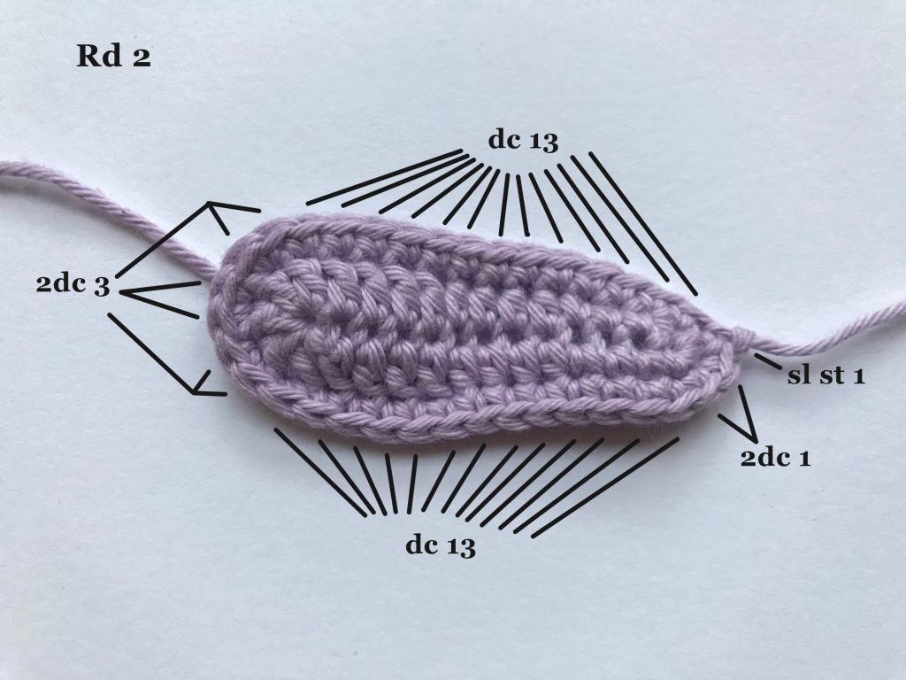 Crocheting a fairy wing rd 2 UK terms | stellasyarnuniverse.com