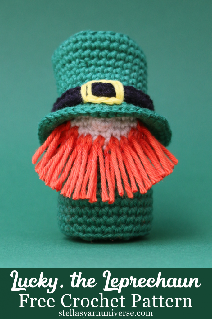 Lucky, the Leprechaun | Free Crochet Pattern for St. Patrick's Day | stellasyarnuniverse.com