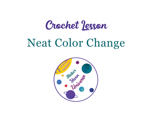 How to make neat color changes in single crochet | stellasyarnuniverse.com