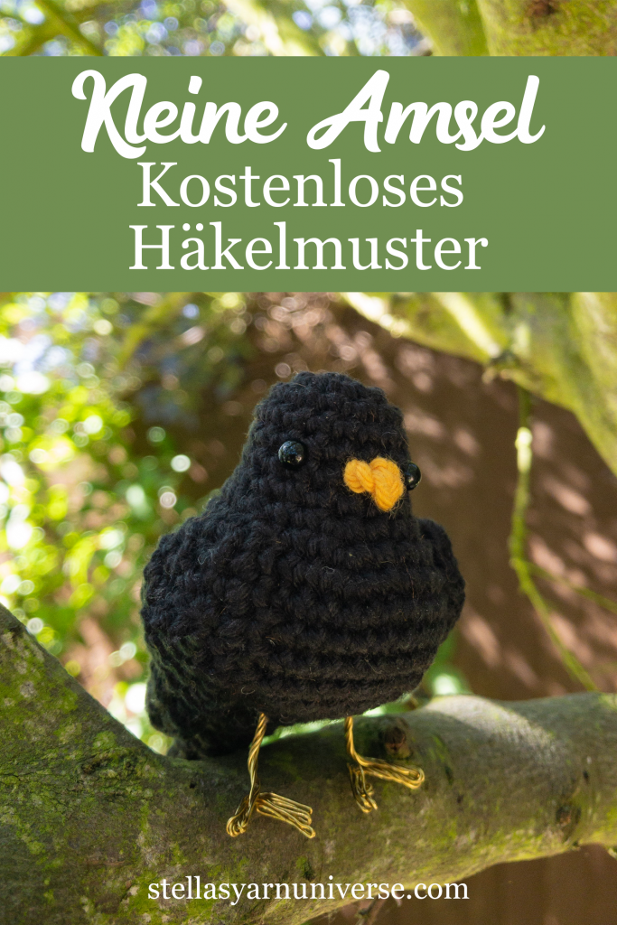 Kleine Amsel kostenloses Häkelmuster | stellasyarnuniverse.com