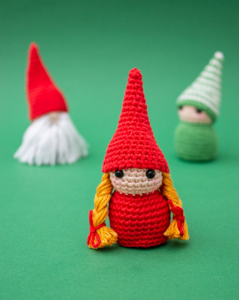 Free Amigurumi Gnome Toy Softies Crochet Patterns | 1024x819