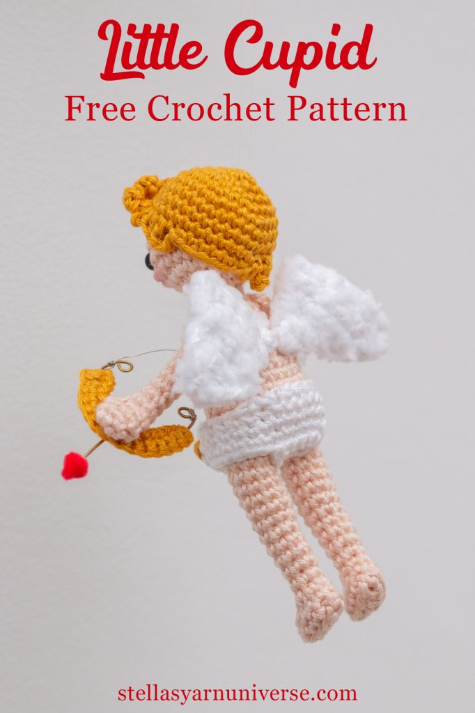 Cupid Doll Free Amigurumi Crochet Pattern | stellasyarnuniverse.com