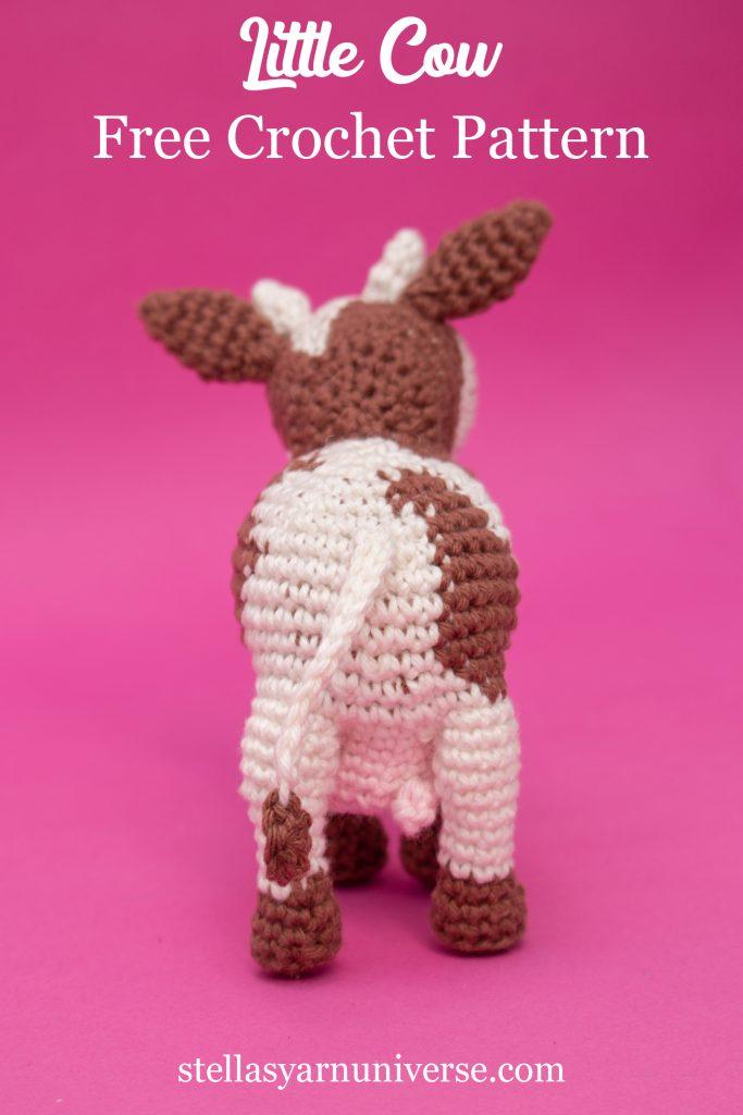 Crochet Cow Free Amigurumi Pattern #freeamigurumipattern stellasyarnuniverse.com