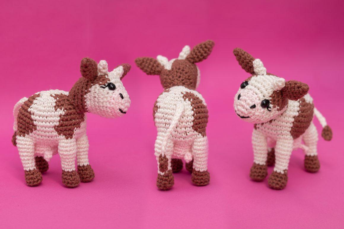 Amigurumi Cow - Free Crochet Pattern and Video Tutorial | stellasyarnuniverse.com