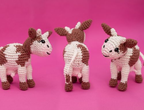 Amigurumi Cow - Free Crochet Pattern and Video Tutorial | stellasyarnuniverse.com