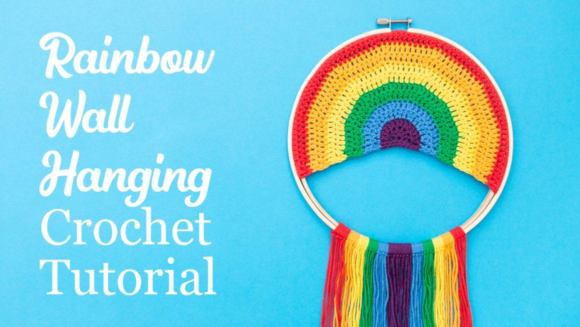Rainbow Wall Decor Free Crochet Pattern   stellasyarnuniverse.com #freecrochetpattern #rainbowwallart