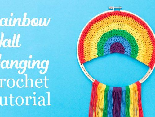 Rainbow Wall Decor Free Crochet Pattern | stellasyarnuniverse.com #freecrochetpattern #rainbowwallart
