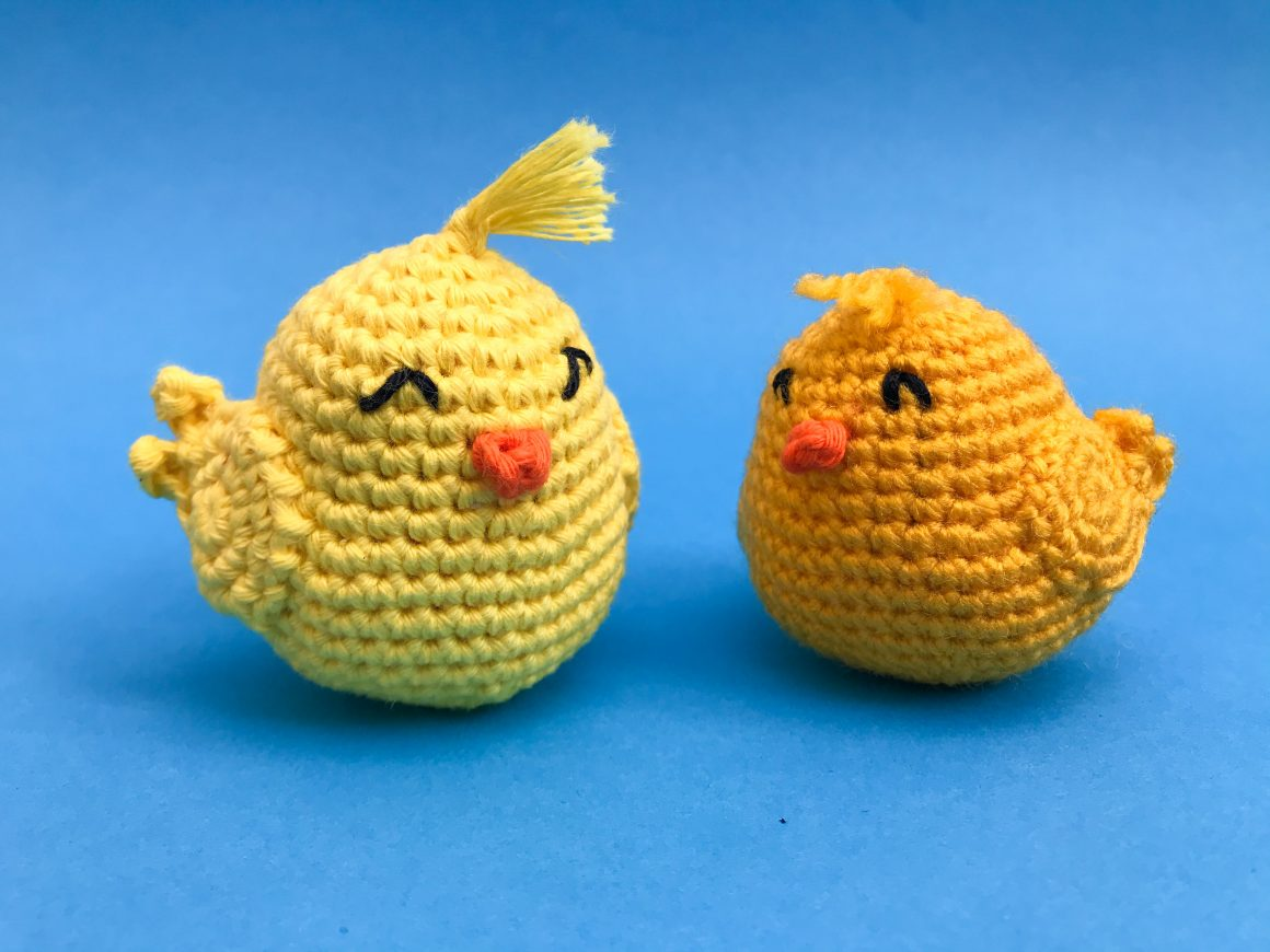 Amigurumi Chick - Free Crochet Pattern   Beginner friendly Amigurumi Pattern   stellasyarnuniverse.com #freeamigurumipatterns