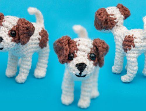 Puppy Free Crochet Pattern - Jack Russel Amigurumi