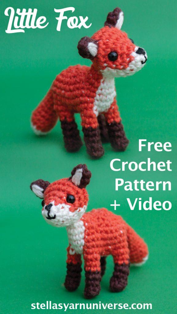 Little fox amigurumi - Free crochet pattern | stellasyarnuniverse.com