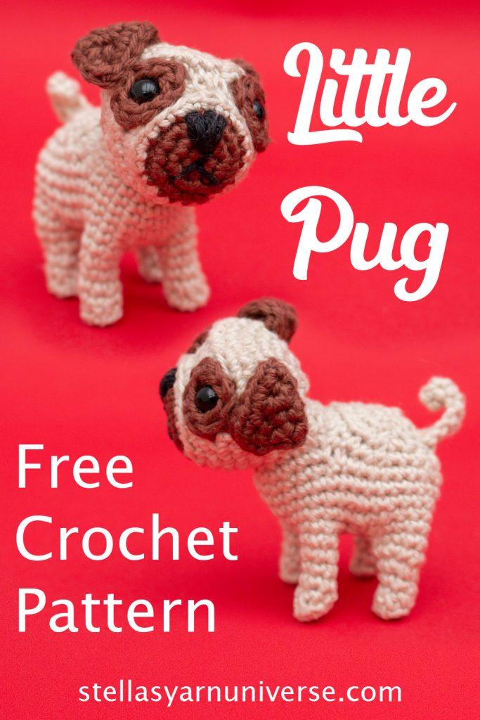 Pug Amigurumi Pattern - Free Crochet Pattern | stellasyarnuniverse.com