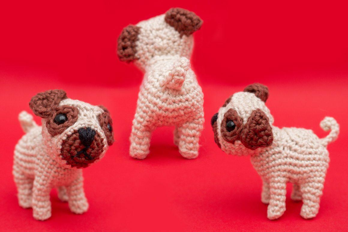 Pug amigurumi free crochet pattern