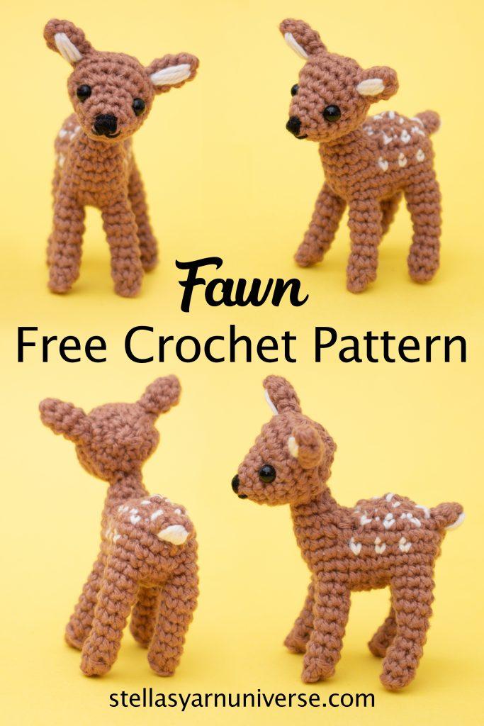 Amigurumi Deer Free Crochet Pattern | stellasyarnuniverse.com