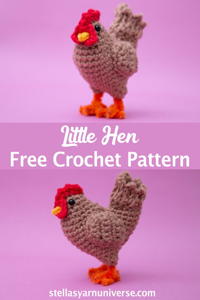 Amigurumi Hen Free Crochet Pattern |  Farm Animal Amigurumi | stellasyarnuniverse.com
