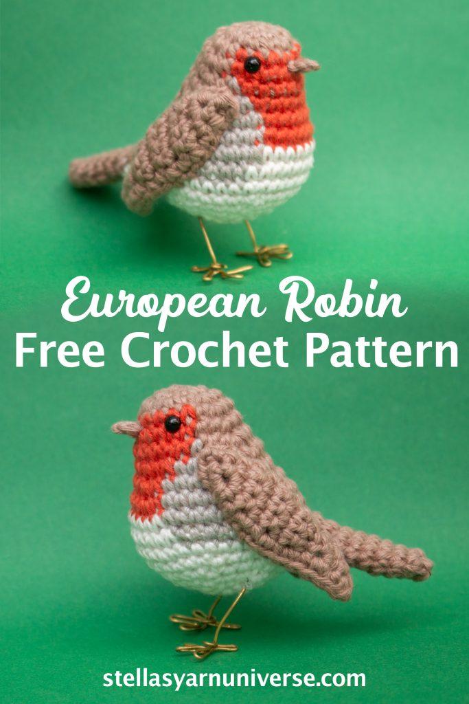 Robin Amigurumi Pattern | European Robin Free Crochet Pattern | stellasyarnuniverse.com