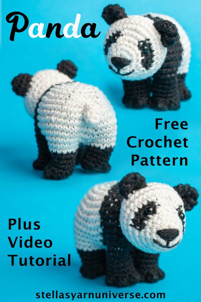 Amigurumi Panda Free Crochet Pattern | Amigurumi Animals stellasyarnuniverse.com