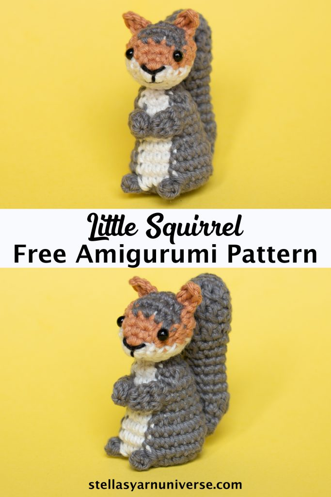 Squirrel Free Amigurumi Pattern | Free Animal Crochet Patterns | stellasyarnuniverse.com